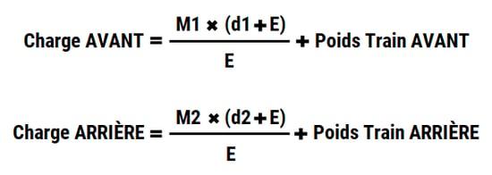 formule pour calculer le poids d'un essieu