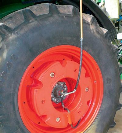 télégonflage du pneu agricole