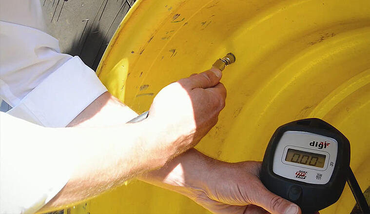 Pression des pneus de tracteur